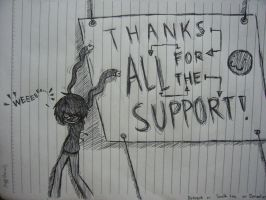 Thanks for all the support!!! by dekogob