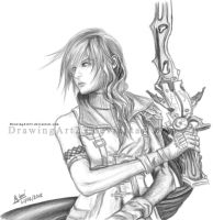 Lightning Farron FF13 - 01 by DrawingArt23