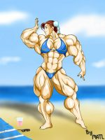 Chun-li at the beach by MATL