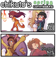 Spring Commissions by Chikuto