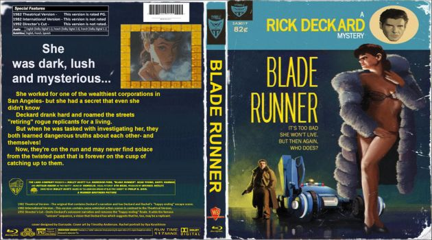 Blade Runner Blu-Ray cover by Darcsyde by THE-Darcsyde