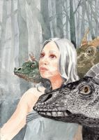 Daenerys with dragons by Goravsky
