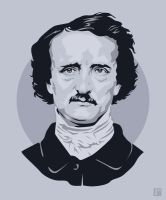 Edgar Allan Poe by monsteroftheid
