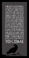 Game of Thrones - Night Watch Oath by SAMURAi-GR