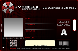 Umbrella Corp. ID by bryzunovrokks