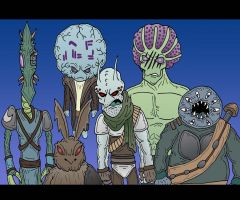 Ragtag Group a aliens by Lordwormm