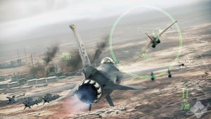 Ace Combat - Assault Horizon F16C (Rear View) by Scarlighter