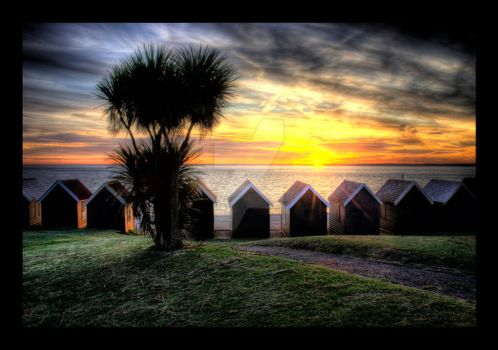 Gurnard Beach Huts by puzzled2007