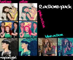 2 actions for photoshop by SportGirlyy