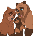 Brother bear family by Trepanierx