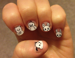 Slightly Modified Sanrio Character Nails by imagineBeyondReality