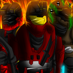 L.J, Rock and Bugger in Halo reach by darkevilmuffens-Jay