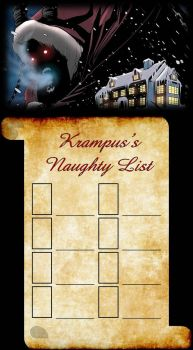 Krampus Naughty List Meme (Blank) by artdog22