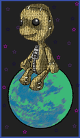 Little Big Planet Sack Boy by fallenintoshadows