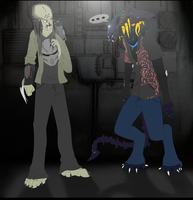 the preditor and predalien by petplayer976