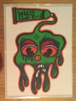 Graffiti Stickers #4 - Dripping Face by TNH-Ed-Hill