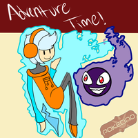 PC:: Tronzi the gijinka and Buster the Gastly by Gone4awhile2