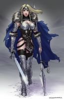 Redesign of Marvel Comic's Valkyrie by ZFischerillustrator