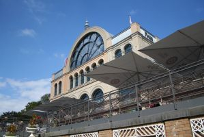 new building and cafe in Flora garden by ingeline-art