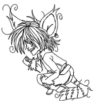 Crazy Cheshire Line art by HarvesterofPearls