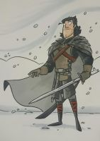 Jon Snow - marker sketch by tyrannus