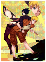 Life In Puzzle :Sasuke And Naruto: by NammyLank