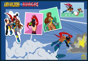 Ann Goldess + Bungee by FBende