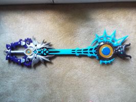 Young Xehanort keyblade v3 back by finaformsora