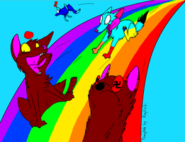 DOWN THE RAINBOW WEEE by Me-MowTheCat