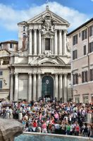 Rome - Trevi - Church 4 by Lauren-Lee