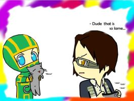 Kick-Ass And Marty by Satanizmihomedog