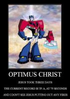 Demotivational Optimus Christ by Loanet