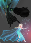 Elsa and Elphaba by cinash