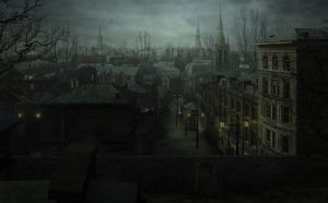 Greenwich Village NY - Lovecraftian Concept Art by mcrassusart