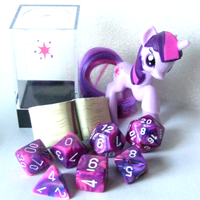 MLP Dice - Twilight Sparkle by Invidlord