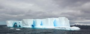 Antarctica :: 003 :: Iceberg Arches by greenjinjo