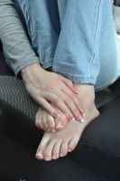Hands and Feet in the Car by Foxy-Feet