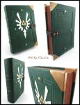 Hylian leather book - White wings by MilleCuirs