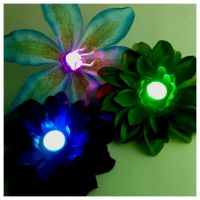 LED Rave Wear Rainbow Glow Hair Flowers by GeekStarCostuming