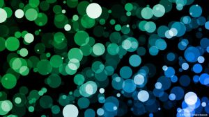 Blue + Green Dots by GMST-FX