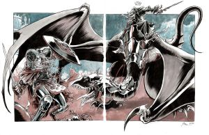2 page Eowyn vs Witchking by DanielGovar