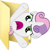 Custom Sweetie Belle folder icon 2 by Blues27Xx