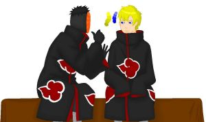 Tobi Uchiha and Wade Wilson by Ask-Deadpool-Madness