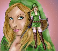 linkella colored by wishpiddle by Selkirk