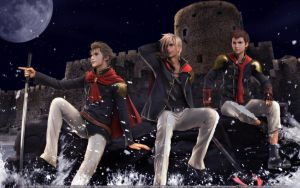 FF Type-0 Trio by SilverCat-sama