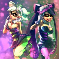 The Glam Of Squid Sisters by ImoonArt