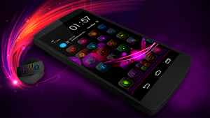 Next Launcher Theme FluO by Karsakoff