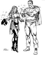 Zee and Captain Marvel by London by kendiwan1987