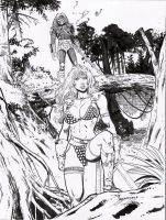 red sonja vs predator3 by amorimcomicart