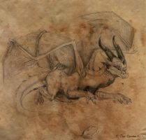 Sketch CM: Draco ~Crouch~ by EternalDragoness